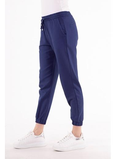 Stamina  Bayan Paçası Lastikli Cepli Pantolon-5PN02 Lacivert